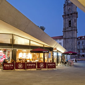 Costa Coffee, Porto, Portugal - Exterior view  - Stanza Design