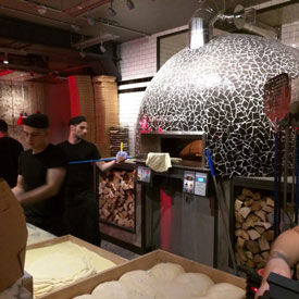 Pizza Union Restaurant Interior Design Featuring Wood Fired Oven
