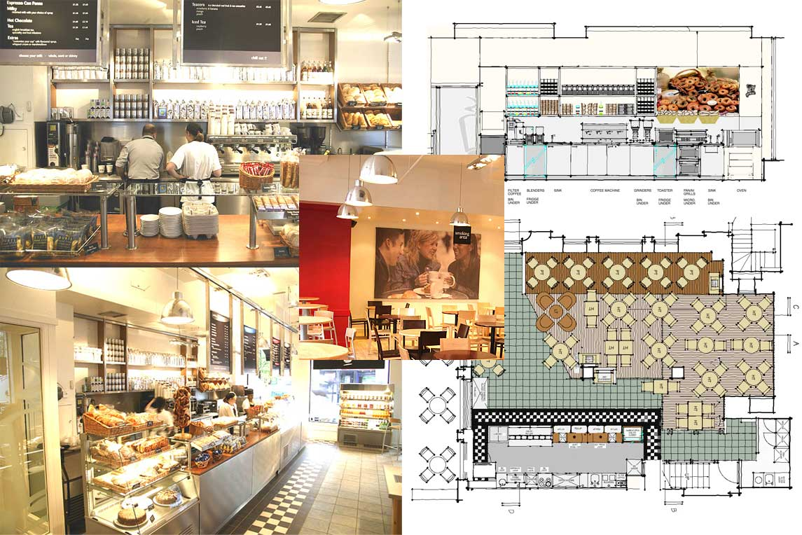Cafe Interior Design Coffee Republic Concept Stanza Design London
