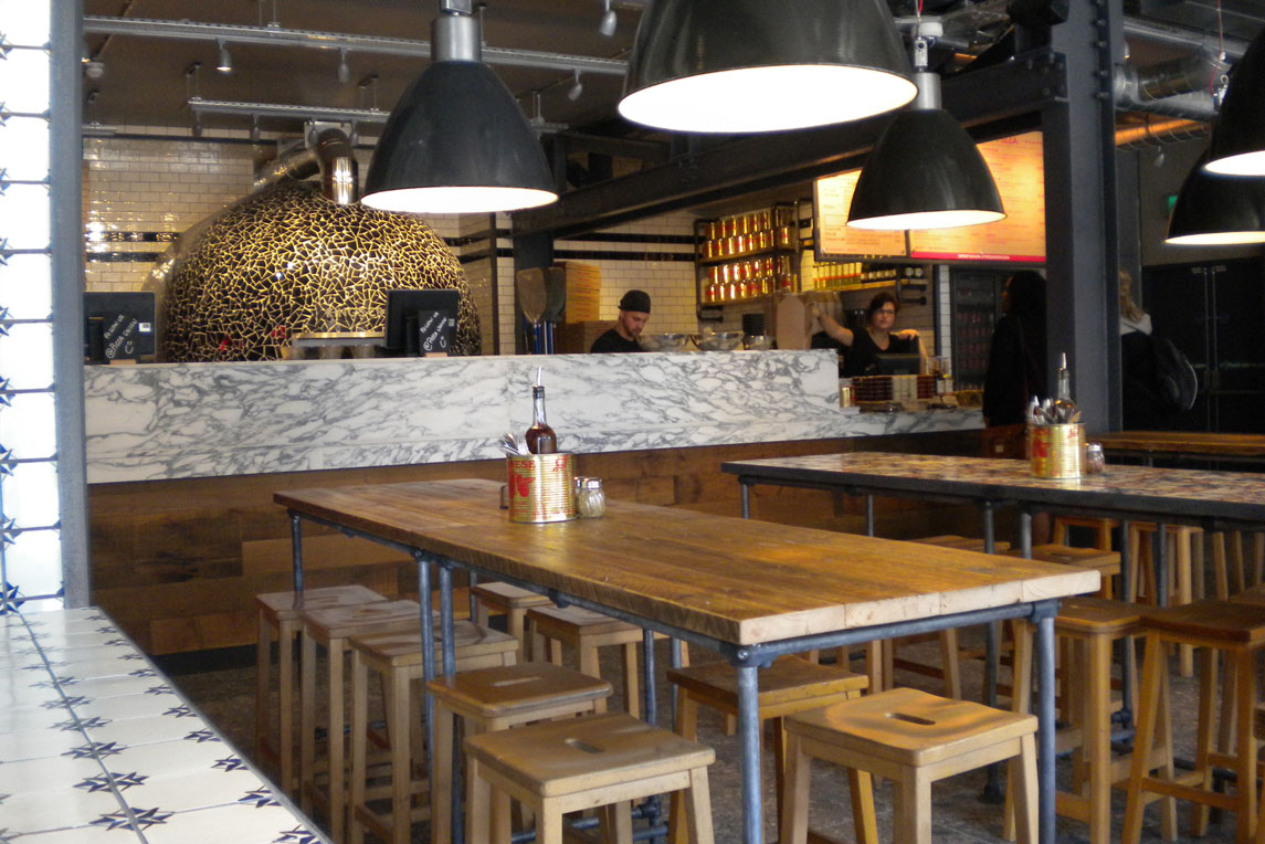 Pizza Union  - Interior view 2 - Stanza Design