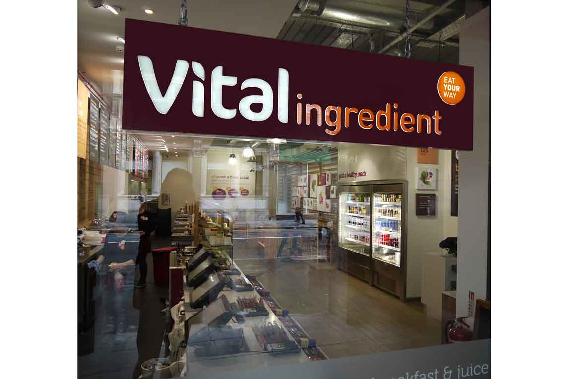 Vital Ingredient new design concept - Shopfront