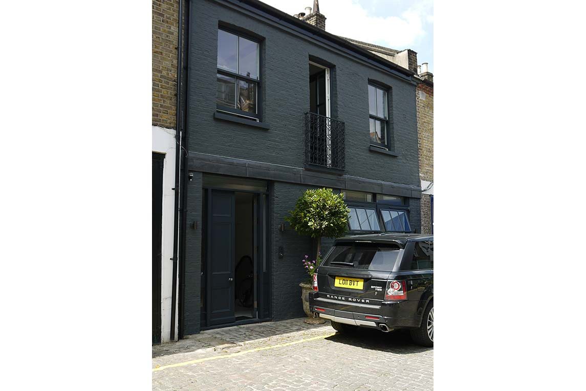 House, Holland Park - Exterior view - Front facade - Stanza Design