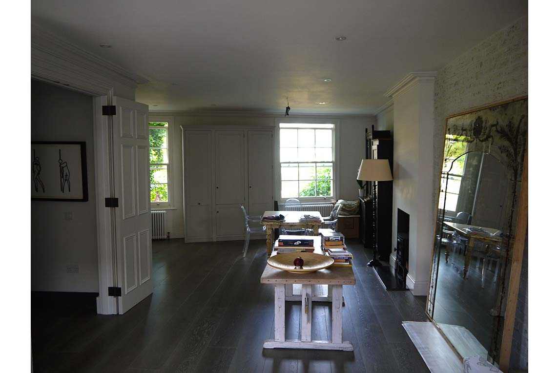 House, Holland Park - Interior view - Dining space design