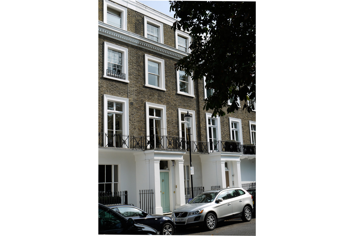 House, Notting Hill - Exterior view - Front facade - Stanza Design