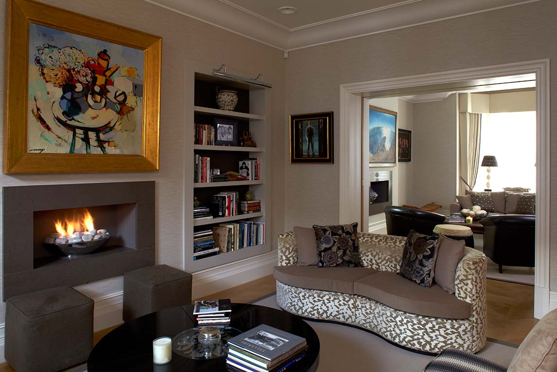 House, Kensington - Interior view - Lounge space design