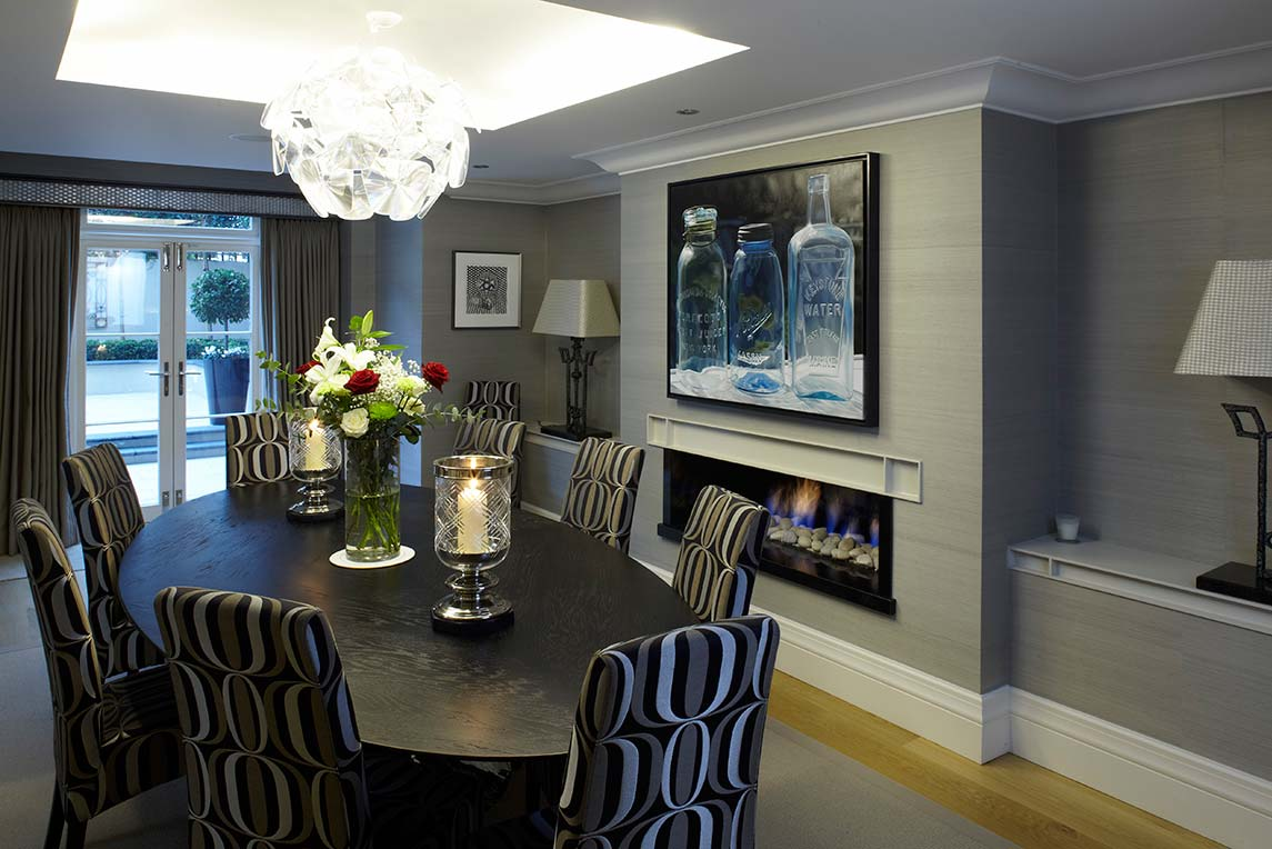 House, Kensington - Interior view - Dining room design