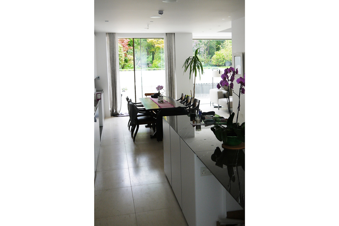 House, Putney - Interior view - Dining space design - Stanza Design